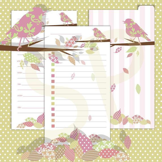 Fall Downloadable Filofax pages personal size by Sharnsprintables