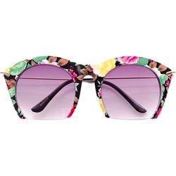 Okulary Przeciwsłoneczne Kwiaty Pół Ramki 0661