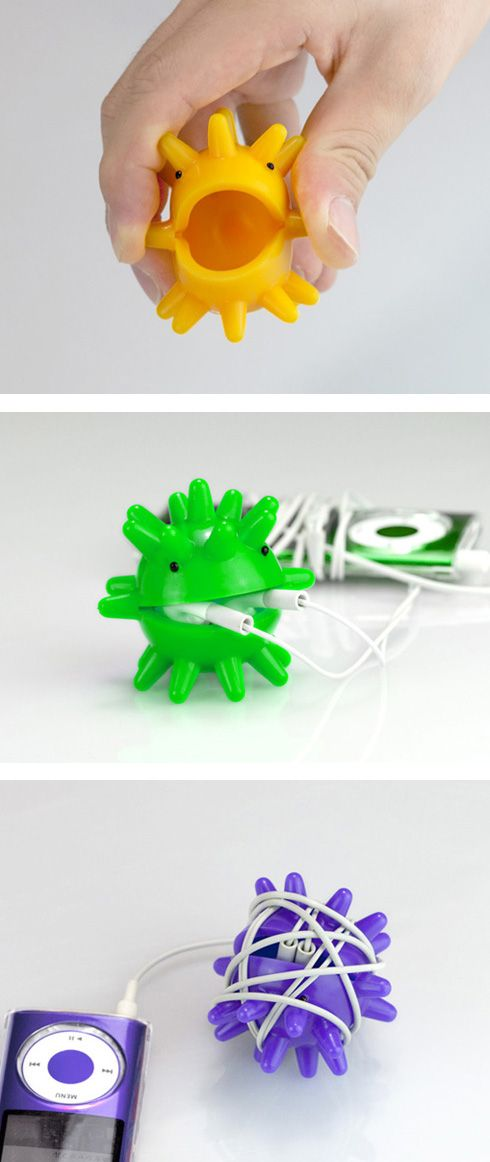So your buds never get twisted again! A functional fidget!  Repinned from Cso Vita Woodworth.