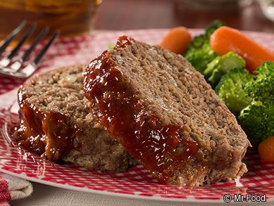 Barbecue Meat Loaf | BBQ sauce & Italian seasoned bread crumbs. Serve with mashed potatoes and peas for a real comfort meal!