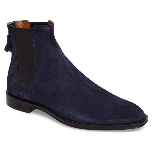 Men's Givenchy Chelsea Boot ($895) ❤ liked on Polyvore featuring men's fashion, men's shoes, men's boots, blue suede, mens boots, mens tassel shoes, mens blue boots, mens zipper shoes and mens blue suede boots