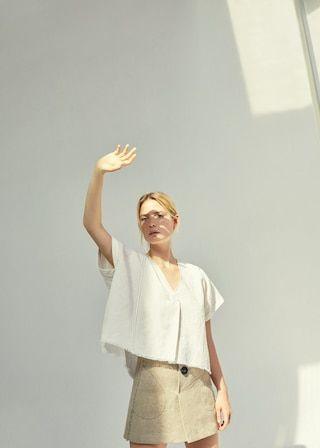 Linen pocket skirt - Woman | MANGO Denmark