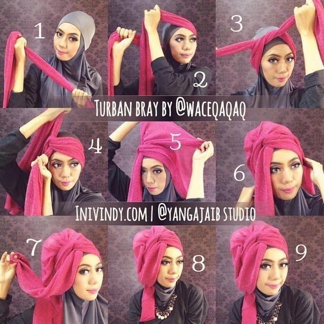 hijab tutorial cara pakai shawl