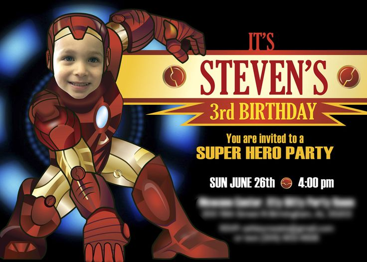 12 best Superheroes invitations images on Pinterest Birthday