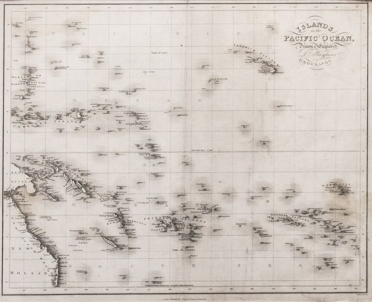 1814 Map 'Islands in the Pacific Ocean, Drawn & Engraved for Dr. Playfairs Geography.'