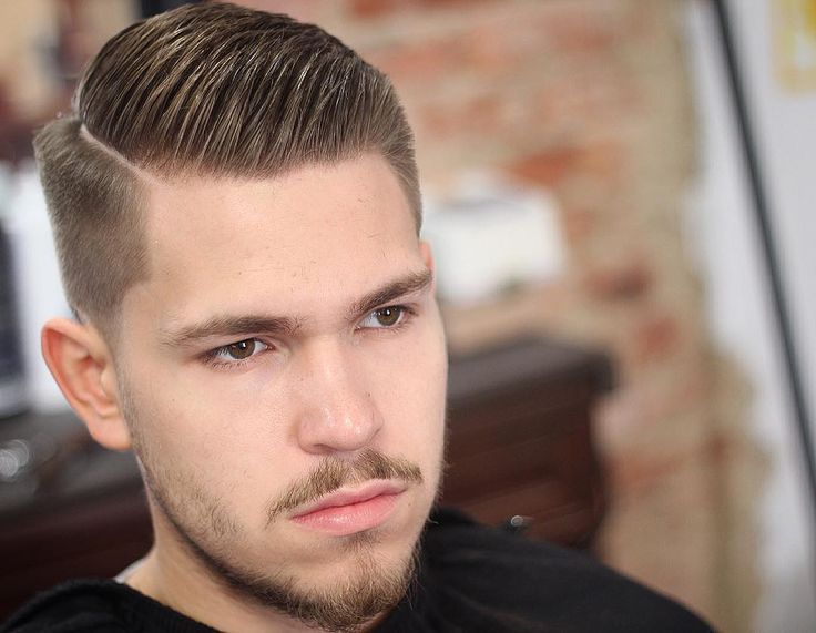 Classic Side Part Hairstyle for men short hair
