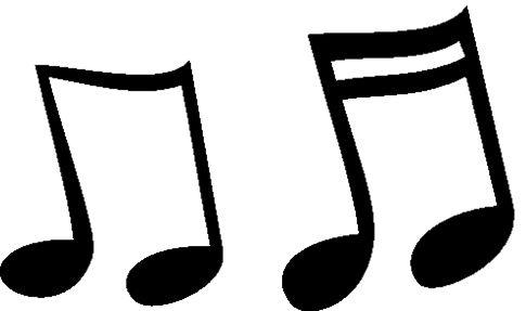 plantilla de notas musicales para pintar - Buscar con Google