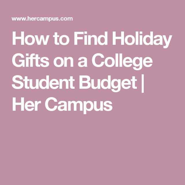 college student budget plan