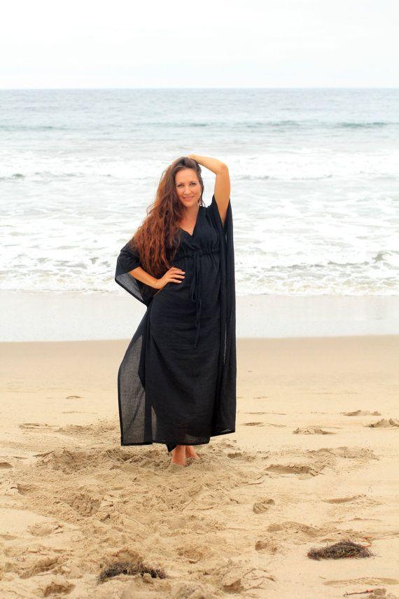 Caftan Maxi jurk  strand cover-up  Kaftan  door mademoisellemermaid