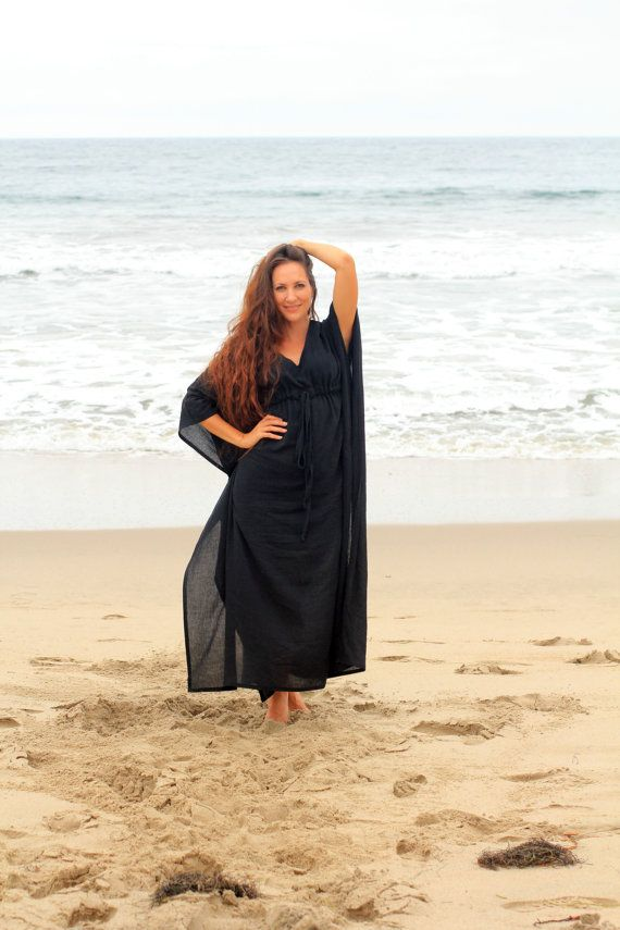 Caftan Maxi jurk  strand cover-up  Kaftan  door mademoisellemermaid