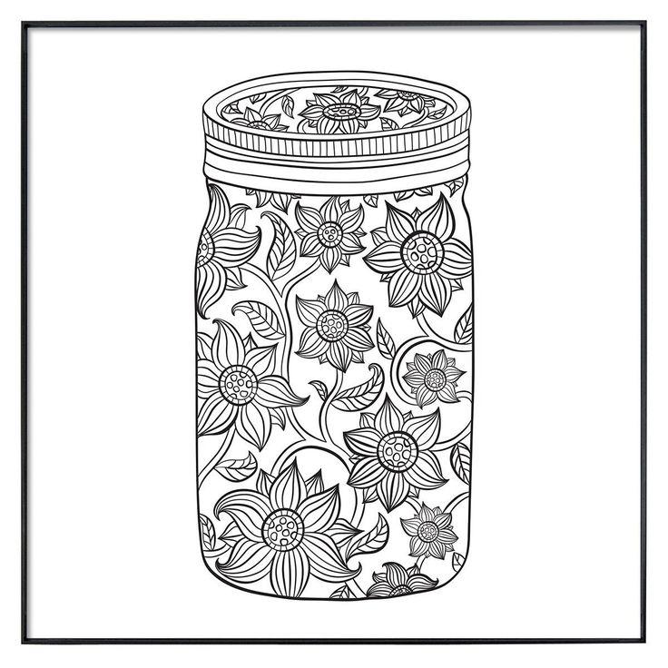 Mason jar coloring sheet coloring pages for Mason jar coloring page