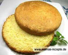 Kleiner Biskuit Tortenboden   Mamas Rezepte - mit Bild und Kalorienangaben