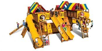 Игровая площадка Rainbow Play Systems Metropolis - доставка бесплатно. Гарантия! Сборка.
