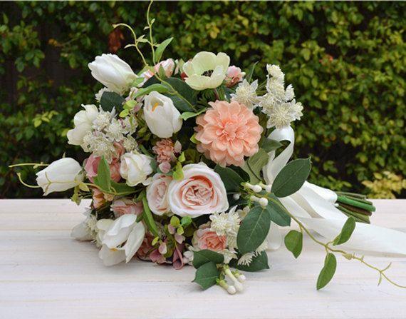 202 best silk wedding arrangements images on pinterest bridal new hayley wedding bouquet artificial bouquet wedding flowers the bloomroom bronnie mightylinksfo