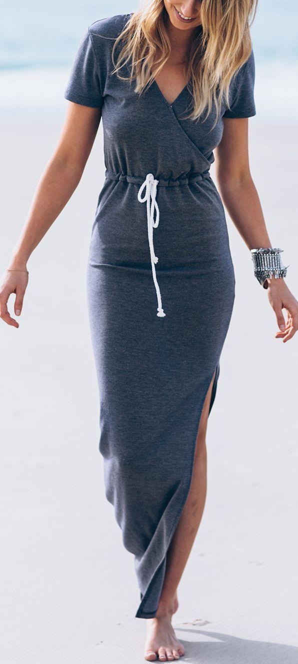 Maxi vestido en gris #amoelgris
