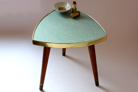 Plant Stand / Small Coffee Table / Flower Stool / Tripod / German / Mid  Century / 50u0027s 60s / Vintage / Light Green / Mint