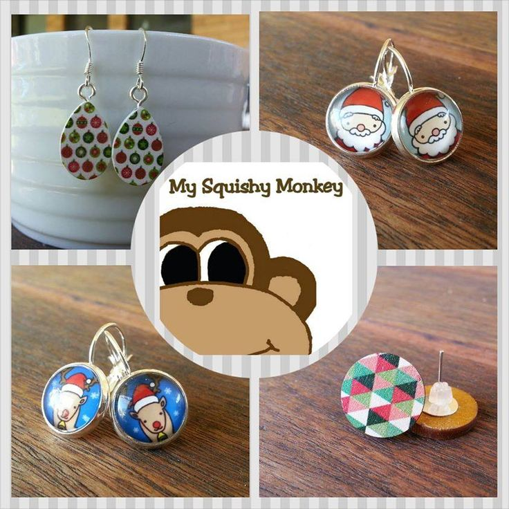 Handmade by My Squishy Monkey Christmas Squishy Earring Value Pack 2