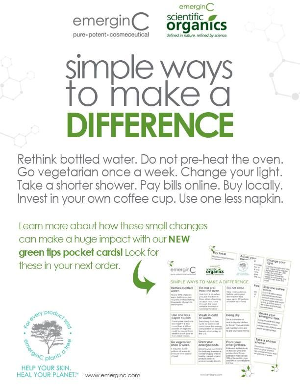 Look out for these NEW green tips pocket cards in your next order! Learn how to make small changes in your everyday life to help better our environment.