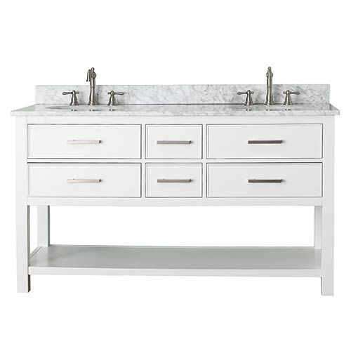 Brooks White 60 Inch Vanity Only Avanity Vanities Bathroom Vanities Bathroom