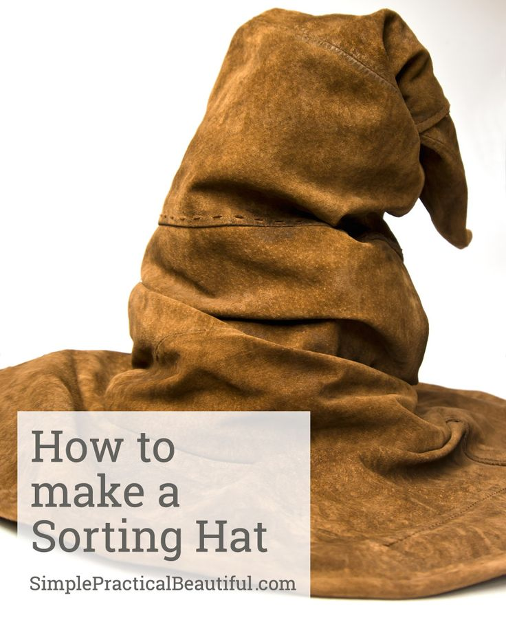 How to make a Sorting Hat | SimplePracticalBeautiful.com                                                                                                                                                                                 More