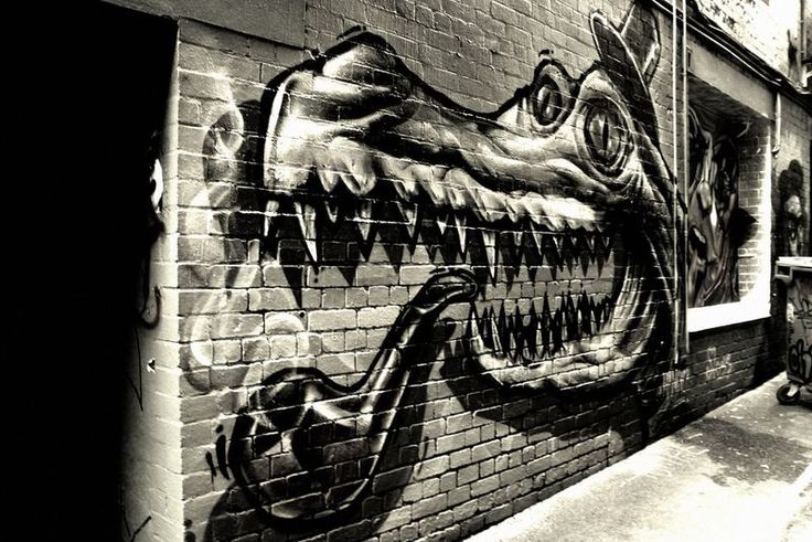 Crocodile with Top-Hat Smoking a Pipe - Melbourne Street Art #Melbourne #StreetArt #GraffitiArt