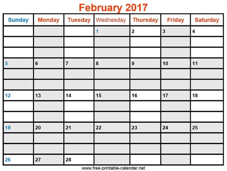 The  Best February  Calendar Printable Ideas On
