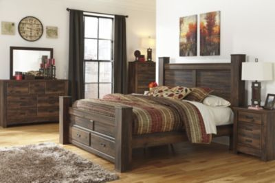 Bedroom Groups | Ashley Quinden Queen Storage Bed/Dresser/Mirror/Ntsd | Homemakers Furniture