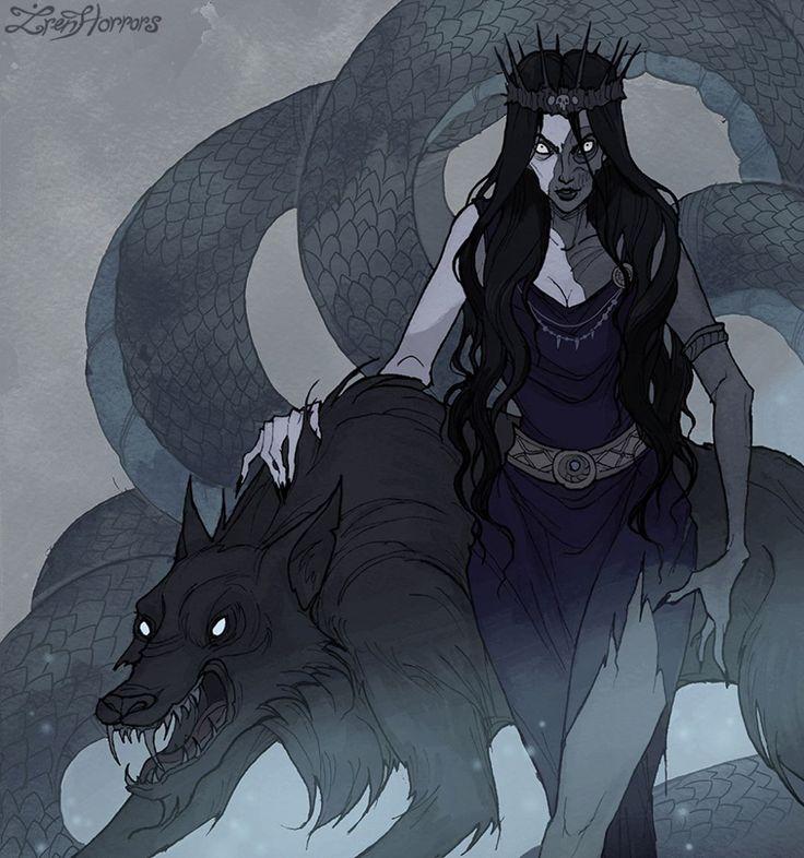 4,785 отметок «Нравится», 35 комментариев — @irenhorrors в Instagram: «In Norse mythology Hel (Goddess of the Underworld), Fenrir (wolf) and Jormungand (serpent) are…»