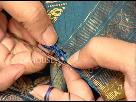 Hand embroidery:how to attach &sew a applique in sleeves - YouTube