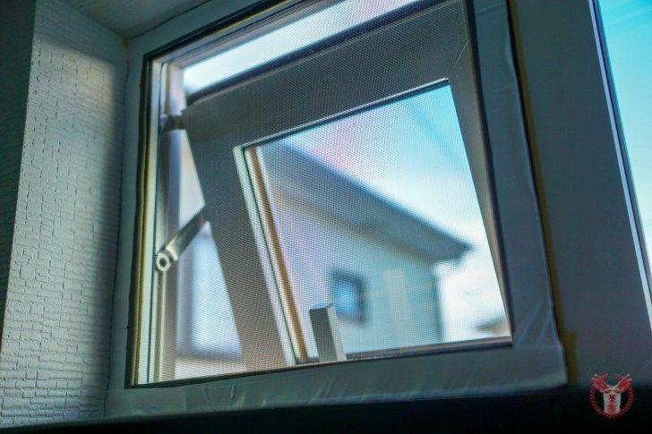 網戸のない賃貸マンションの窓に 自作 Diy で簡単な網戸をつけてみた 網戸 窓 賃貸
