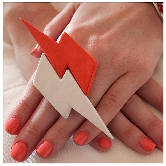Lightning Bolt Ring Jerseylicious