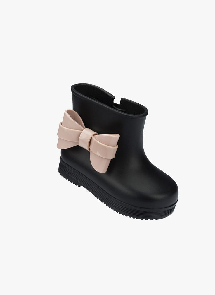 Mini Melissa Bow Rubber Rain Boots