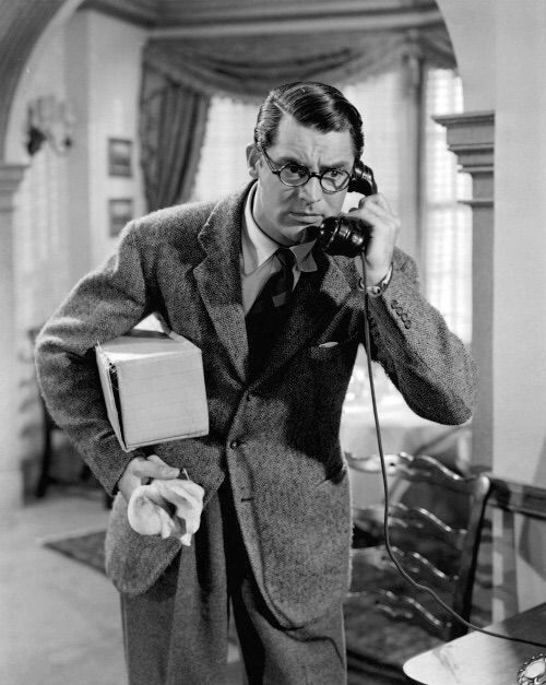 Cary Grant in a scene from Bringing Up Baby