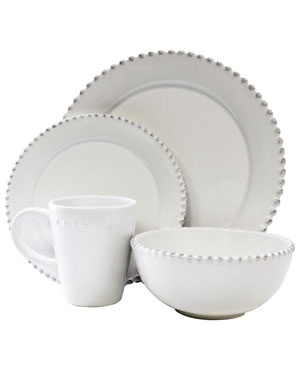 Everyday Plates - white with beads  sc 1 st  Pinterest & 104 best Everyday Dishes China Flatware Serving Pieces images ...