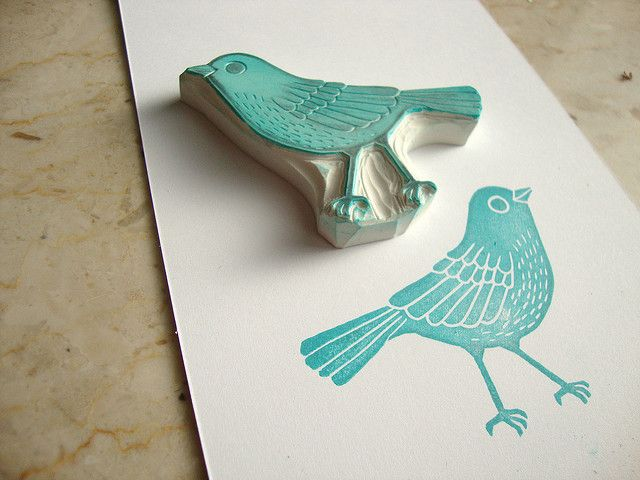 hand carved stamp by Kaylah Doolan/The Dainty Squid