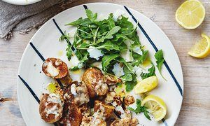 The weekend cook: Thomasina Miers' recipes for taleggio roast potatoes and damson trifle | Life and style | The Guardian