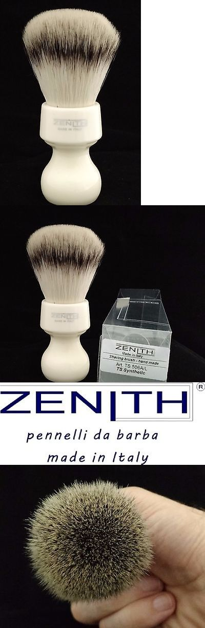 Shaving Brushes and Mugs: Zenith Resin Handle Xl Synthetic White Shave Brush. 27.5Mm. Made In Sicily. S2 -> BUY IT NOW ONLY: $42 on eBay!