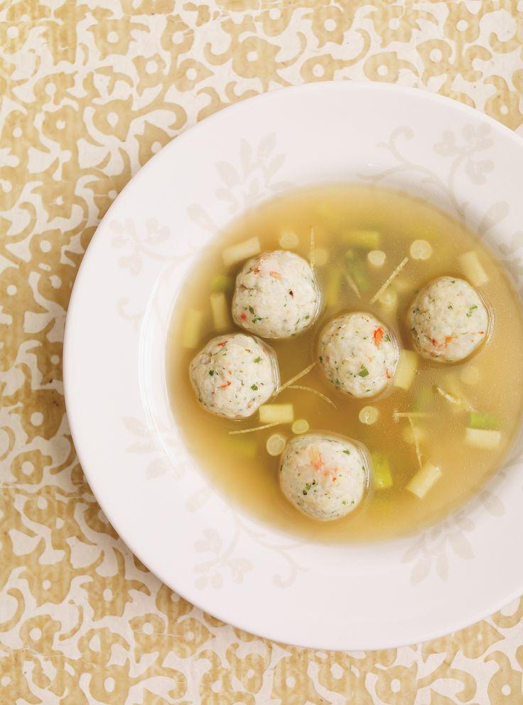 Soupe aux boulettes de poisson et crevettes #soupe #crevettes #poisson #ricardo