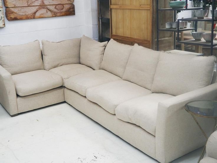 Large cream corner sofa in the shop now!  Give us a call or send an email to find prices and what else we have in stock!      #interiordesign #furniture #designerfurniture #homedecor #smallbiz #burystedmunds #suffolk