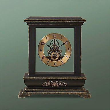 Reloj De Mesa Retro De Metal | Relojes Especiales. Grandfather ClocksVintage  ClocksAspecto RetroHickory DickoryCompassTabletopBellisimaSpecial ...