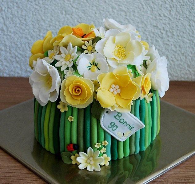 Th Birthday Summer Spring Flower Cakes
