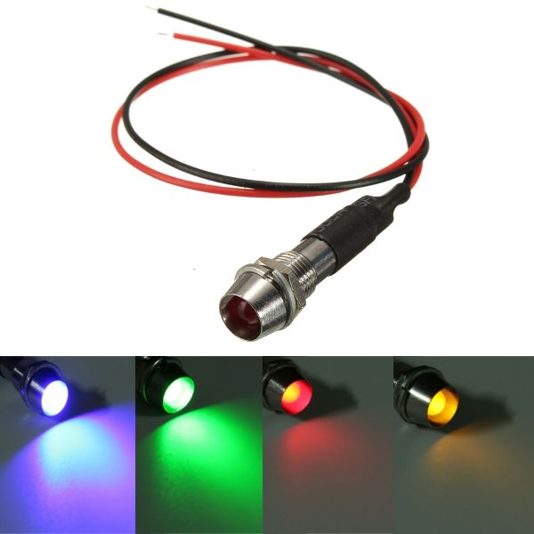 12v 8mm Led Panel Pilot Indicator Light Dash Lamp Car Van Lorry Bike Boat Indicator Lights Led Panel Boats For Sale