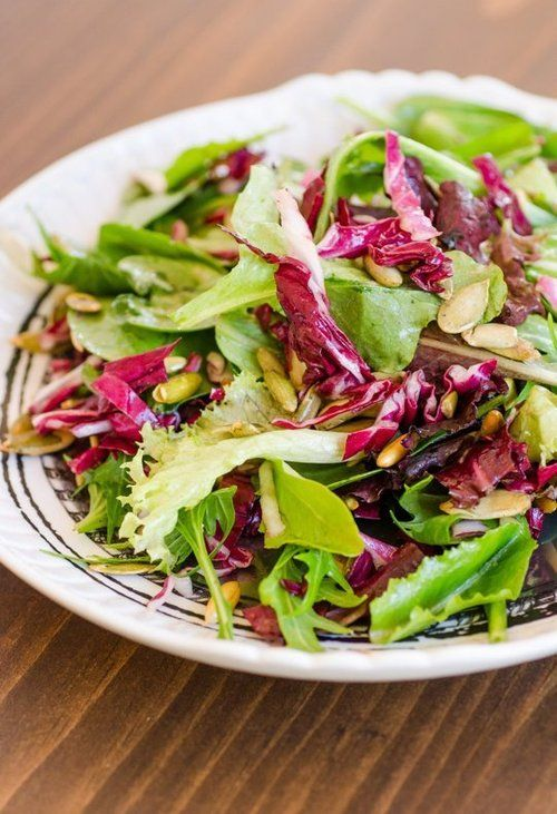 Lemony Green Salad with Radicchio &…