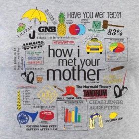 How I Met Your Mother Quote Mashup Junior Fit V-Neck T-Shirt. I NEED IT!!! ALSO I NEED TO SEE THE FINALE!