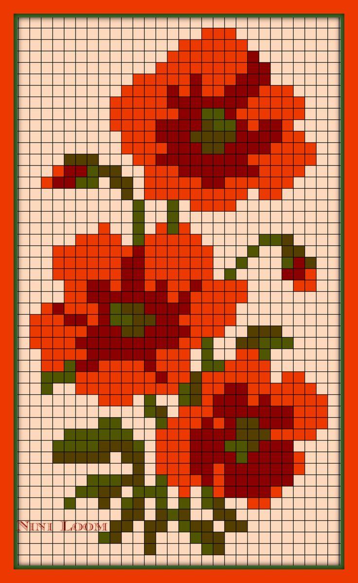 1000 Images About Point De Croix Fleurs Nature On