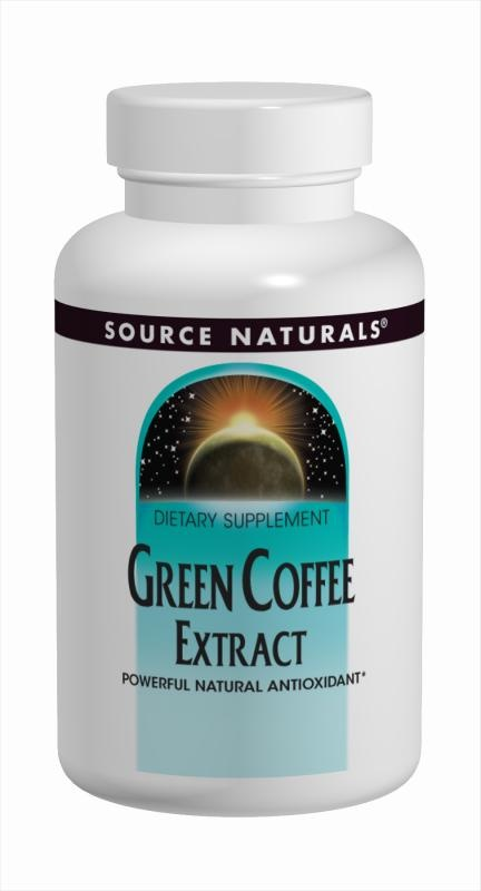 Source Naturals Green Coffee Extract is a powerful antioxidant that helps protect against oxidative stress caused by free radicals-a major cause of accelerated aging. Derived from raw, unroasted coffee beans and naturally low in caffeine, green coffee extract has been shown in research to support normal cellular regeneration and growth. At The Health Garden for $14.99