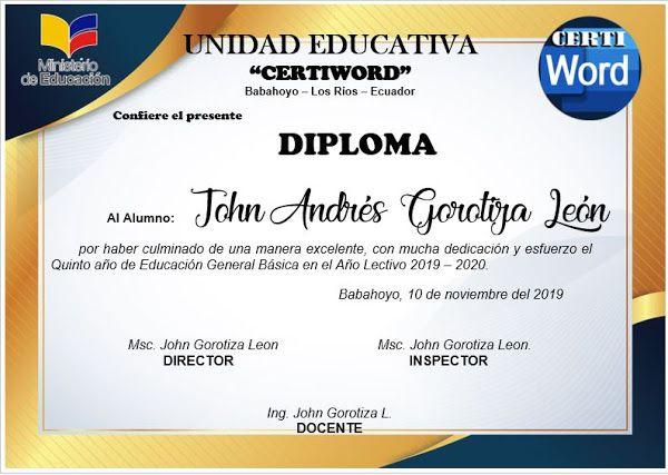Diploma Athena Editable En Word Plantillas De Diplomas Editables Plantillas De Diplomas Diplomas De Reconocimiento