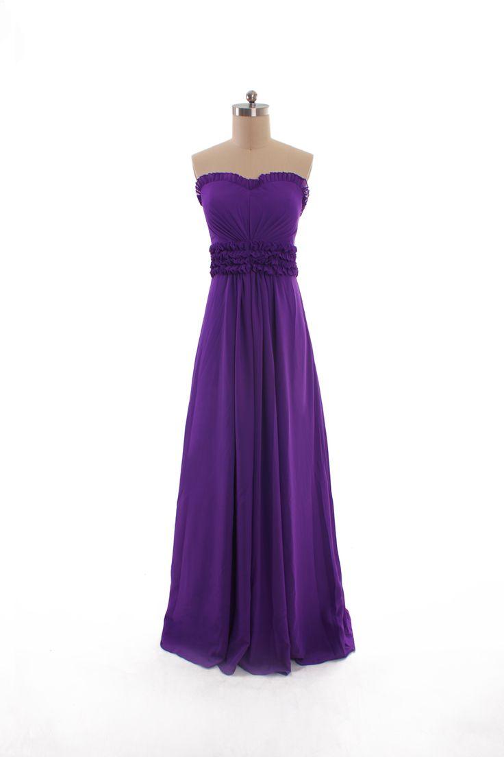 Elegant sleeveless with empire waist dress for bridesmaid