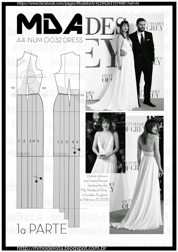 ModelistA: A4 - NUM 0032 DRESSAt the premiere of Fifty Shades of Grey, yesterday (12/2/2015) in London, Dakota Johnson was the feeling. Although Jamie Dornan, interpreter of Christian Grey, was very elegant (and accompanied by his wife, for the fans disappointment), Dakota drew attention for the dress. In Saint-Laurent off-white, the star did not even bother with the the deep neckline that looks !, is the envy of the outfits Claudia Leitte.