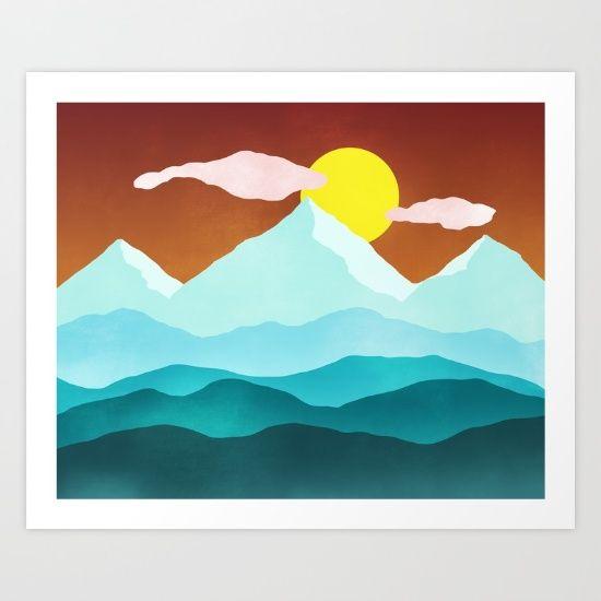 #flatlandscape #illustration #artprint